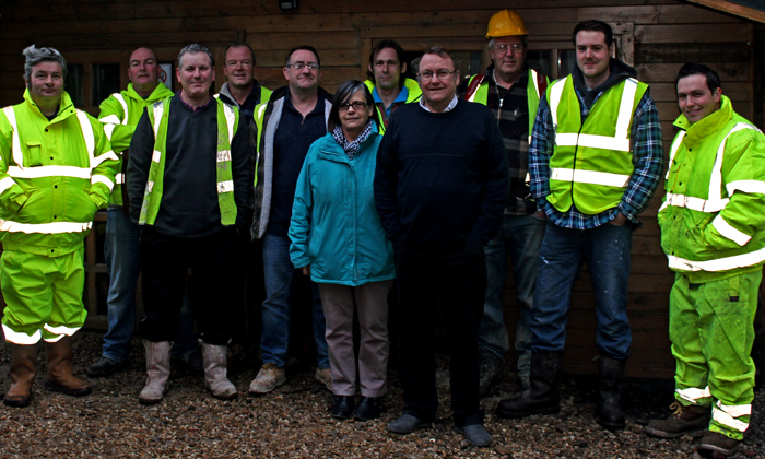 Photo of the CHF Construction team